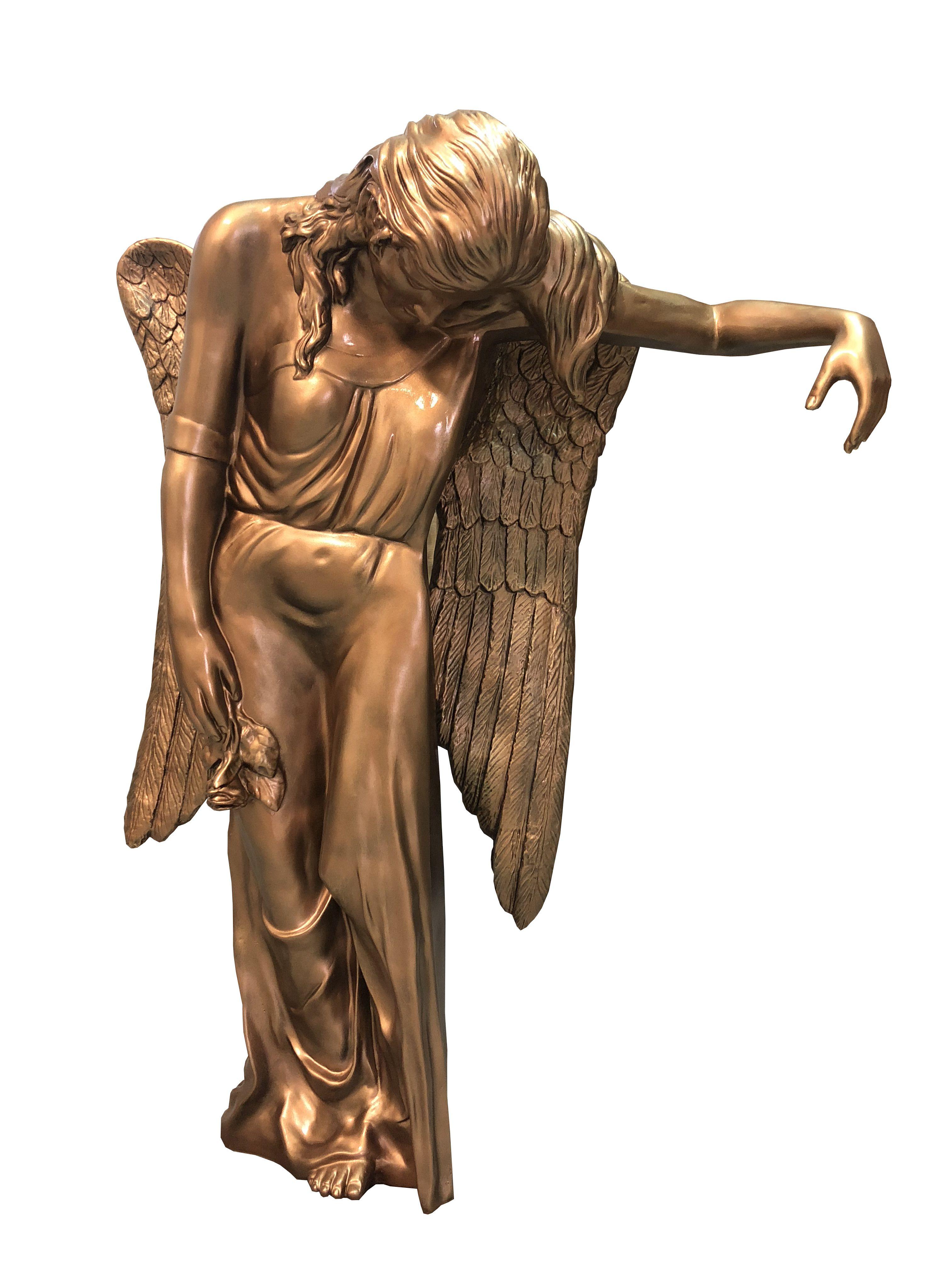 Aniol placzacy - rzezba nagrobna