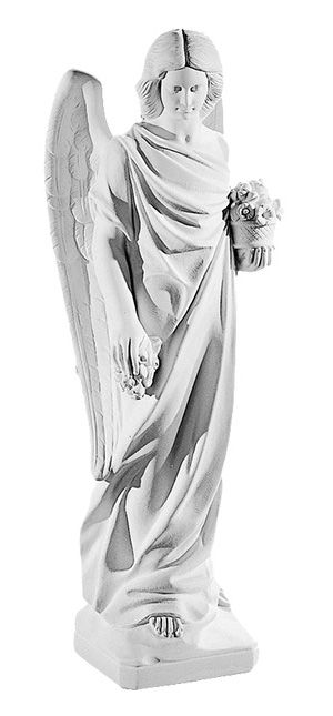 Aniol z kwiatami - rzezba nagrobna