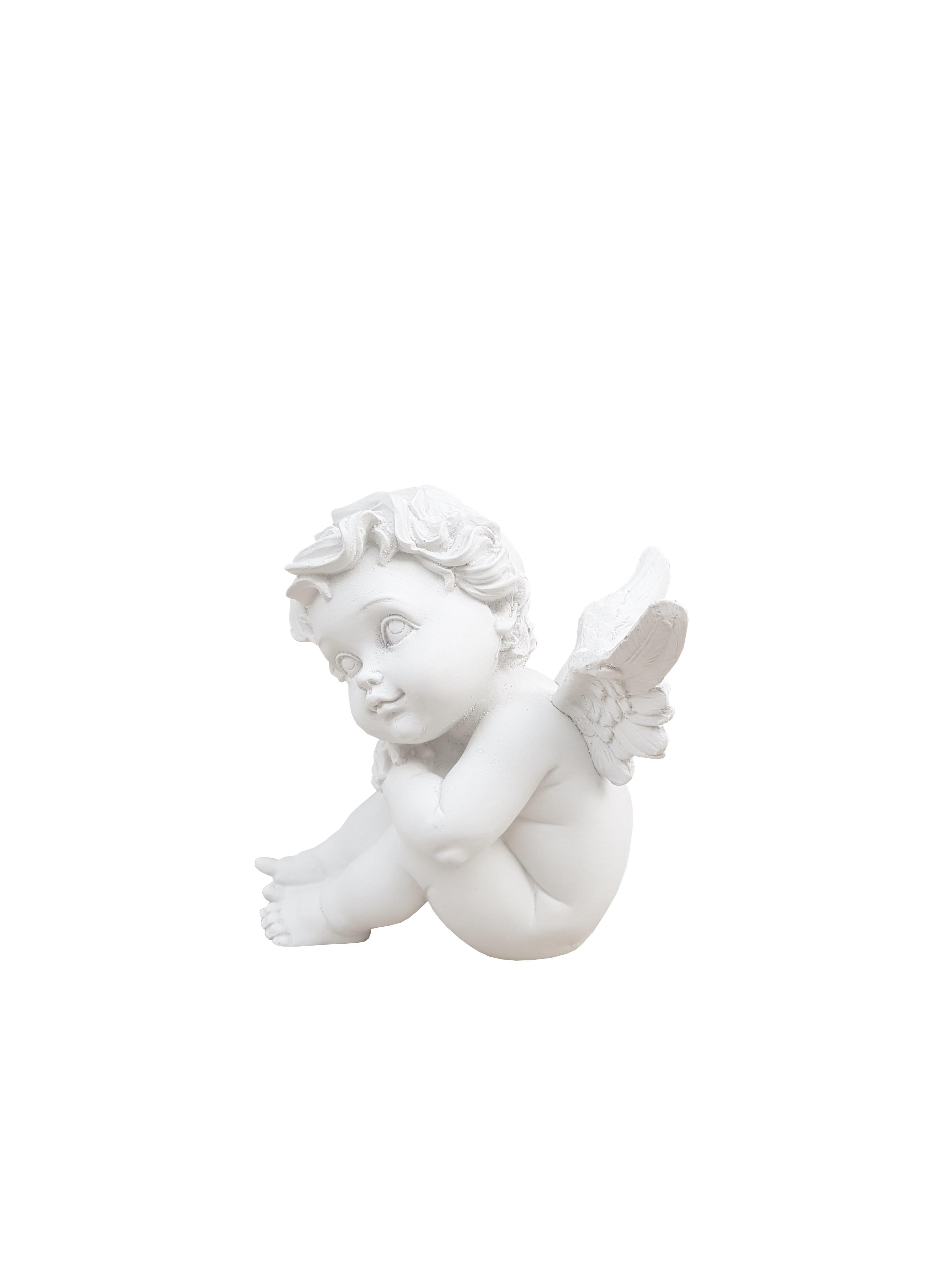 aniolek siedzacy - rzezba nagrobna