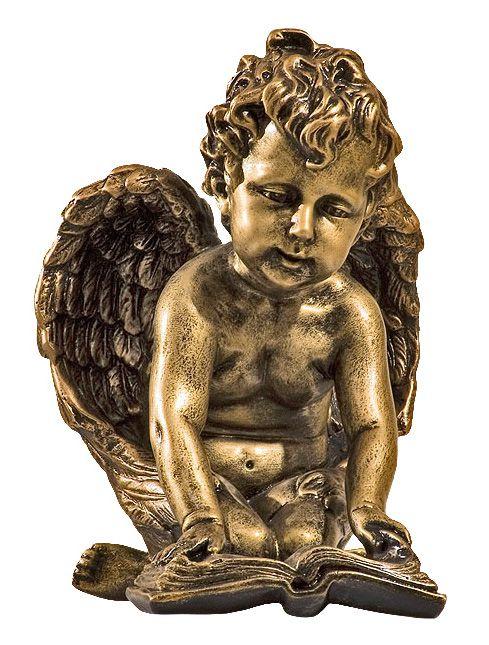 Maly aniolek z ksiazka - rzezba nagrobna