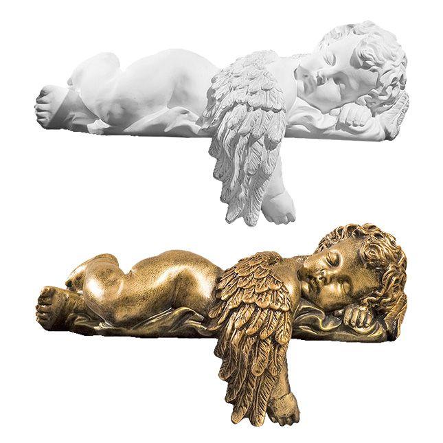 Aniolek spiacy ze skrzydelkiem - rzezba nagrobna