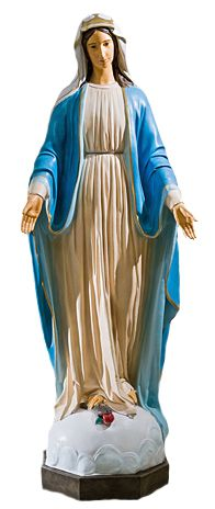 Matka Boza Niepokalana - rzezba nagrobna