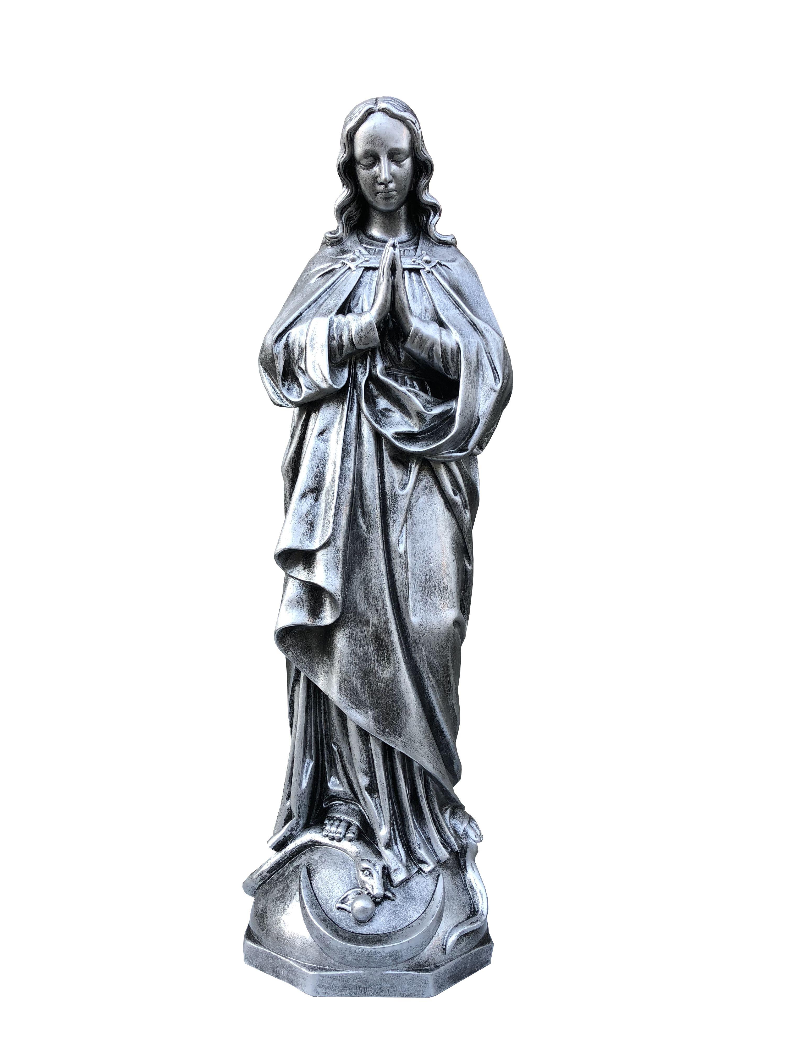 Matka Boza w modlitwie - rzezba nagrobna