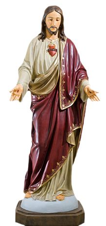 Serce Jezusa - rzezba nagrobna