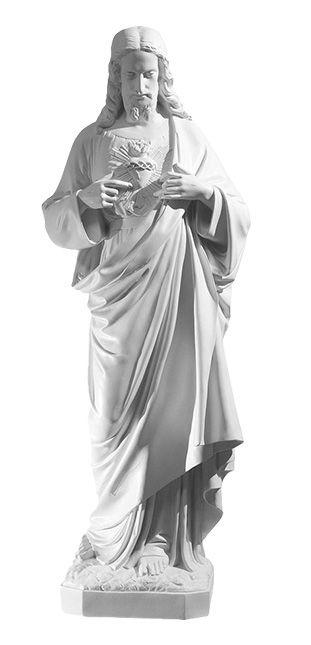 Serce Pana Jezusa - rzezba nagrobna