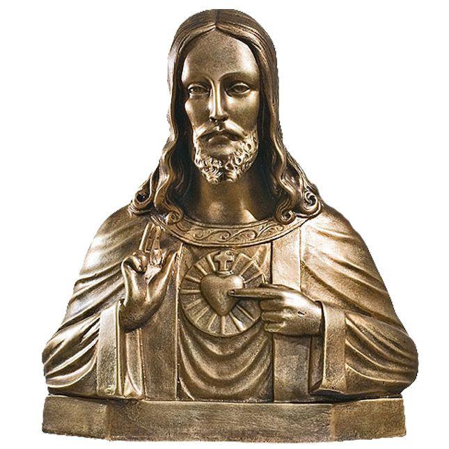 Serce Pana Jezusa - popiersie - rzezba nagrobna