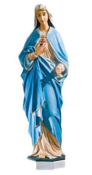 Niepokalane Serce Maryi - rzezba nagrobna
